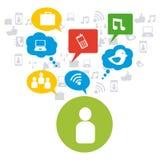 Social media design Stock Photo