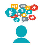 Social media design Stock Photography