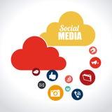 Social media design. Over white background, vector illustration Royalty Free Stock Image