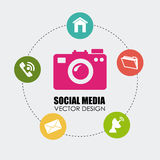 Social media design. Over white background, vector illustration Royalty Free Stock Photos