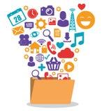 Social media design. Social media design, vector illustration eps 10 Stock Photo