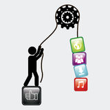 Social media. Design, vector illustration eps10 graphic Royalty Free Stock Images