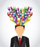 Social media. Design, vector illustration eps10 graphic Stock Images