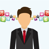 Social media. Design, vector illustration eps10 graphic Royalty Free Stock Photos