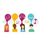 Social media. Design, vector illustration eps10 graphic Stock Photo