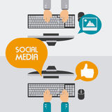 Social media design, vector illustration. Royalty Free Stock Images