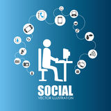 Social media design, vector illustration. Stock Photo