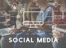Social Media Devices Communication Connection Concept royalty free stock images