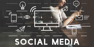 Social Media Devices Communication Connection Concept Royalty Free Stock Photo
