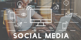 Social Media Devices Communication Connection Concept Stock Photo
