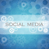 Social Media diagram Stock Photo