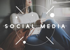 Social Media Digital Communication Internet Concept Royalty Free Stock Photo