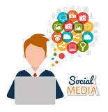 Social media and digital marketing Royalty Free Stock Photo
