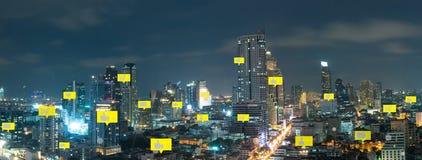 Social media and digital network royalty free stock photo