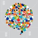 Social media diversity in technology Stock Images
