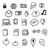 Social Media Doodles Elements Royalty Free Stock Image