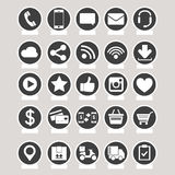 Social media and e-commerce vector Stock Image