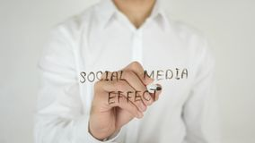 Social Media Effect, Written on Glass Royalty Free Stock Photos