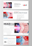 Social media and email headers set, banners. Business templates. Cover design template, easy editable, flat layout in Stock Photography
