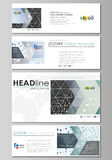 Social media and email headers set, banners. Business templates. Easy editable layouts in popular sizes. Soft color dots Royalty Free Stock Photos