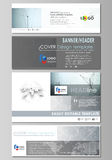 Social media and email headers set, modern banners. Abstract design template, vector layouts in popular sizes. Chemistry. Social media and email headers set Stock Photos