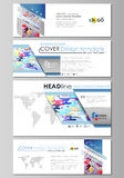 Social media and email headers set, modern banners. Abstract design templates, vector layouts. Bright color colorful. Social media and email headers set, modern Stock Photos
