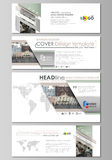 Social media and email headers set, modern banners. Abstract design templates, vector layouts in popular sizes. Colorful Stock Photography