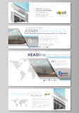 Social media and email headers set, modern banners. Business design templates. Vector layouts in popular sizes. Abstract Stock Photos