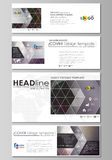 Social media and email headers set, modern banners. Business design templates. Vector layouts in popular sizes. Dark Royalty Free Stock Photos