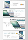 Social media and email headers set, modern banners. Business templates. Abstract design template, vector layout Stock Photos