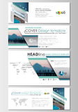 Social media and email headers set, modern banners. Business templates. Cover design, abstract flat style travel Royalty Free Stock Image