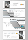 Social media and email headers set, modern banners. Business templates. Cover design, flat layouts. Abstract 3D Royalty Free Stock Image
