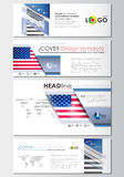 Social media and email headers set, modern banners. Business templates. Cover design template, easy editable, abstract Royalty Free Stock Image