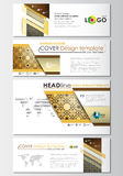 Social media and email headers set, modern banners. Business templates.  Stock Photos