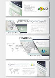 Social media and email headers set, modern banners. Business templates.  Stock Images