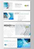 Social media and email headers set, modern banners. Business templates.  Stock Photo