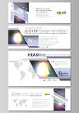 Social media and email headers set, modern banners. Business templates. Easy editable abstract template, vector layouts Stock Photo