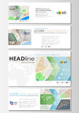 Social media and email headers set, modern banners. Business templates. Easy editable layout in popular sizes. City map. Social media and email headers set Royalty Free Stock Images