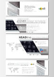 Social media and email headers set, modern banners. Business templates. Flat layouts in popular sizes. High tech design Royalty Free Stock Photos