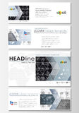 Social media and email headers set, modern banners. Business templates. Flat layouts in popular sizes. High tech design Stock Images
