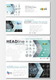 Social media and email headers set, modern banners. Business templates. Flat layouts in popular sizes. High tech design Royalty Free Stock Photo