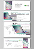 Social media and email headers set, modern banners. Business templates. Flat style vector layout in popular sizes Stock Photo