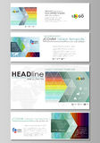 Social media and email headers set, modern banners. Business templates. Vector layout in popular sizes. Bright color Royalty Free Stock Photo