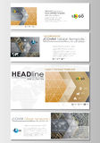 Social media and email headers set, modern banners. Cover design template, flat layout in popular formats. Golden Stock Photography