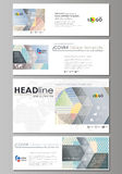 Social media and email headers set, modern banners. Easy editable abstract template, vector layouts in popular sizes Royalty Free Stock Photography