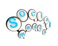 Social media emblem made of speech bubbles Royalty Free Stock Photos