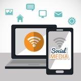 Social media entertaiment Stock Photos