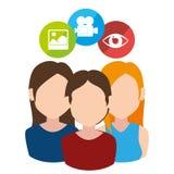 Social media entertainment graphic design Stock Image