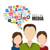Social media and entertainment graphic design Stock Photos