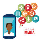 Social media entertainment graphic design Stock Image
